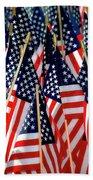 Wall Of Us Flags Bath Towel
