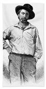 Walt Whitman (1819-1892) Bath Towel