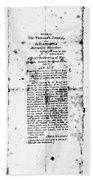 War Of 1812: Broadside Bath Towel