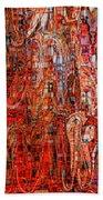 Warm Meets Cool - Abstract Art Hand Towel