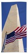 Washington Monument Flag Bath Towel