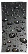 Water Drops On Black Metalica. Business Card. Invitation. Sympathy Note. Bath Towel
