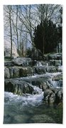 Water Flowing In A Garden, St. Fiachras Bath Towel