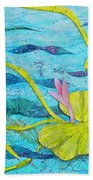 Water Lilies Panorama Bath Towel