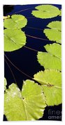 Water Lily Pads And Bloom Bath Towel