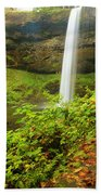 Waterfall Along The Trail Bath Towel