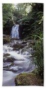 Waterfall In A Forest, Glenoe Bath Towel
