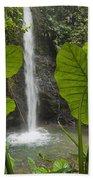 Waterfall In Lowland Tropical Rainforest Bath Towel