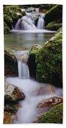 Waterfall, Peter Lougheed Provincial Bath Towel