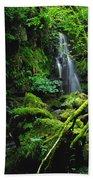 Waterfall, Sloughan Glen, Co Tyrone Bath Towel