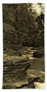 Watkins Glen In Orotone Bath Towel