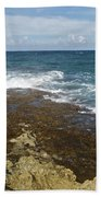 Waves Breaking On Shore 7930 Bath Towel