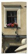 Wawel Flower Box And Achitecture Bath Towel