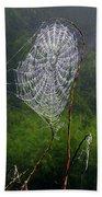 Web Over Foggy Lake Bath Towel