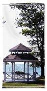 Wedding Gazebo By Lake Erie At Evangola State Park Bath Towel