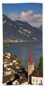 Weggis Switzerland Bath Towel