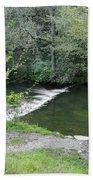 Weir Below Lover's Leap - Dovedale Bath Towel