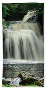 West Burton Falls In Wensleydale Bath Towel