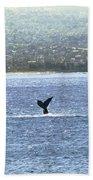 Whale Tail II Bath Towel