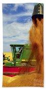 Wheat Harvest Bath Towel