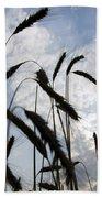 Wheat With Blue Sky Bath Towel