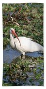 White Crane Bath Towel