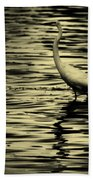 White Crane Bath Towel