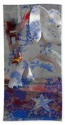 White Elephant Ride Abstract Bath Towel