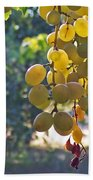 White Grapes Hand Towel