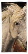 White Icelandic Horse Bath Towel