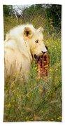 White Lion Bath Towel