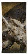 White Rhinos Bath Towel