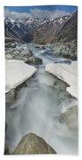 White River Rapids Arthurs Pass Np Bath Towel