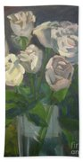 White Roses Hand Towel