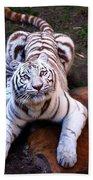 White Tiger 2 Bath Towel