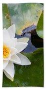 White Water Lily Bath Towel