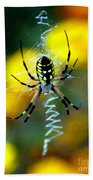 Wicked Spider Paint Bath Towel