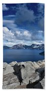 Wide View Of Crater Lake Bath Towel