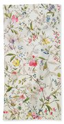Wild Flowers Design For Silk Material Hand Towel