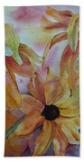 Wild Sunflowers Bath Towel