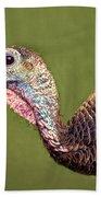 Wild Turkey Portrait Bath Towel