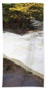 Wilderness Waterfall Autumn Stream Bath Towel