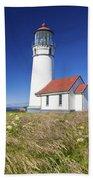 Wildflowers And Cape Blanco Lighthouse Bath Towel