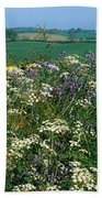 Wildflowers, Near Seaforde, Co Down Bath Towel