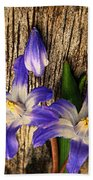 Wildflowers On Wood Bath Towel