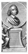 William Harvey, English Physician Bath Towel