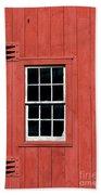 Window In Red Wall Bath Towel