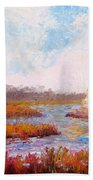 Winter At The Back Bay Hand Towel