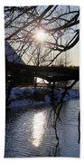 Winter Lake Bath Towel
