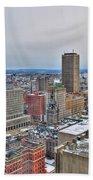 Winter Scene Downtown Buffalo Bath Towel